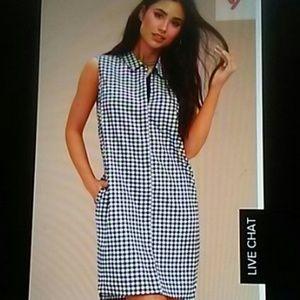 Lulus gingham button up dress